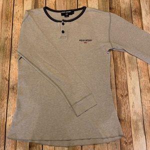 Polo Sport Vintage Waffle Knit Henley | Size L